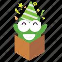 emoji, party icon
