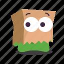 emoji, shy icon