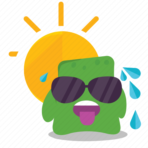 emoji, hot icon
