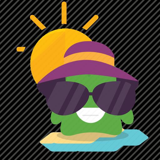 emoji, vacation icon
