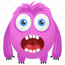 comedy, horror face creature, monster character, monster costume, the oddball monster icon