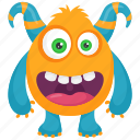 beast, cartoon monster, demon, devil monster, monster character icon