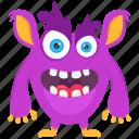 batear monster, demon, halloween monster, monster, monster cartoon icon