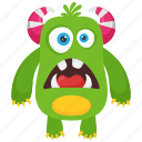alien monster, bacteria monster, dirty creature, germ monster, monster cartoon icon