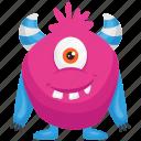 haunted monster, pink monster, zazzle cartoon monster, zazzle costume, zazzle monster icon