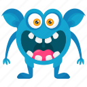 angry monster, crazy monster, excited monster, monster cartoon, monster character icon