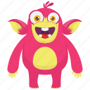 beast, demon monster, gorilla monster, monkey monster, monster cartoon icon