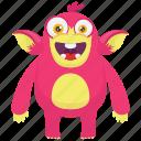 beast, demon monster, monster cartoon, gorilla monster, monkey monster icon