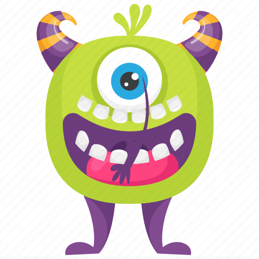 Cartoon Mike Wazowski Monster Character Mike Wazowski Monster One Eye Monster Halloween Monster Character Icon