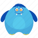 big fat monster, cartoon monster, dragon-digi monster, fat zombie, giant monster icon