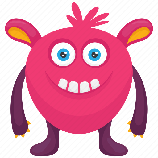 Cartoon Monster Caterpillar Monster Demon Monster Furry Monster Insect Monster Icon Download On Iconfinder