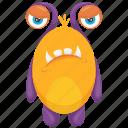 bug monster, cockroach monster, insect monster, monster cartoon, monster costume icon