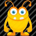 bug monster, cartoon monster, cute monster costume, insect monster, monster character icon