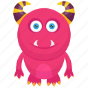 cartoon monster, demon, halloween character, monster costume, monster ons icon