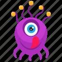 eyeball monster, monster cartoon, monster character, monster costume, one eyed monster icon