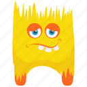cute monster, fuzzy monster, monster cartoon, monster character, toy monster icon