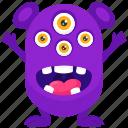 monster cartoon, monster character, monster costume, spider eye monster, spider monster costume icon