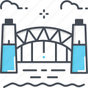 sydney harbour bridge, australian, landmark, engineering, australia