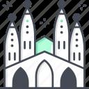 sagrada familia, barcelona, catholic, spain, buildings