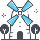 holland, kinderdijk windmills, landmark, netherlands