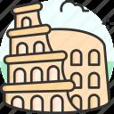 colosseum, landmark, monument, building