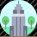 empire state building, architectonic, america, landmark, united states