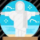 christ, landmark, statue, brazil