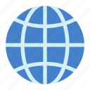earth, globe, internet, network icon