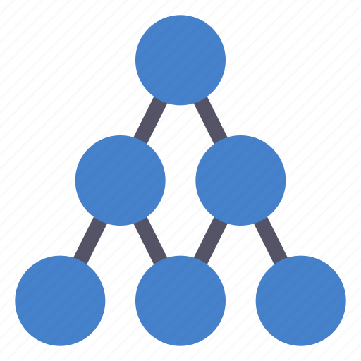 connections, hierarchy, pyramide, structure icon