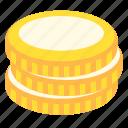cash, coins, gold, money icon