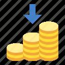 cashin, coins, finance, money icon