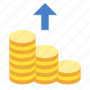 cashout, coins, finance, money icon