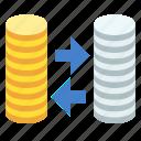 exchange, money icon
