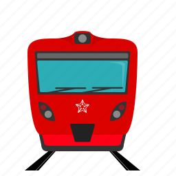 aeroexpress, express, locomotive, moscow, railroad, train, transport icon