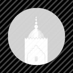 islamic, minaret, mosque, tower, white icon
