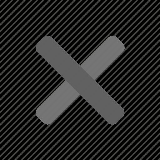 cross, delete, exit, mono, recycle, remove, trash icon