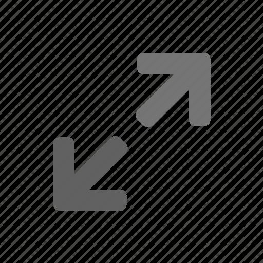 arrow, full screen, large, maximize, rotate, rotation icon