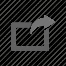 edit, external share, internet, network, rotate, share, slide icon