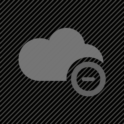 cloud, delete, dislike, edit, negative, remove, trash icon