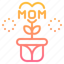 flower, heart, love, mom, plant icon