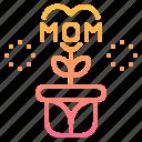 flower, heart, love, mom, plant