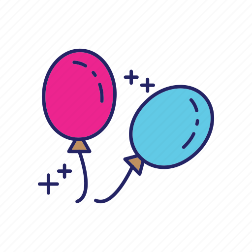 balloons, day, happy, mothers icon