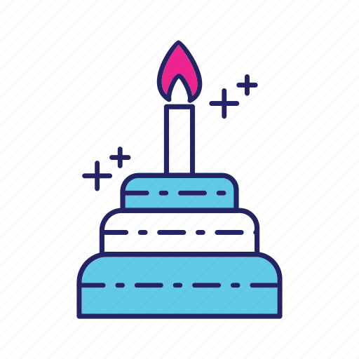 cake, candle, day, happy, mothers icon
