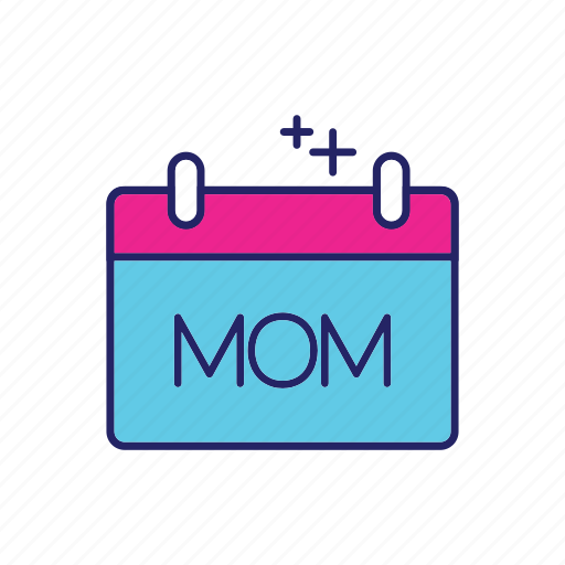 calender, day, happy, mothers icon