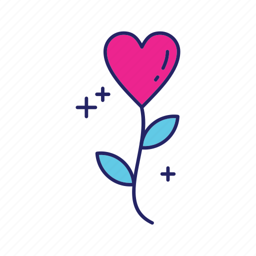 day, flower, happy, heart, mothers icon
