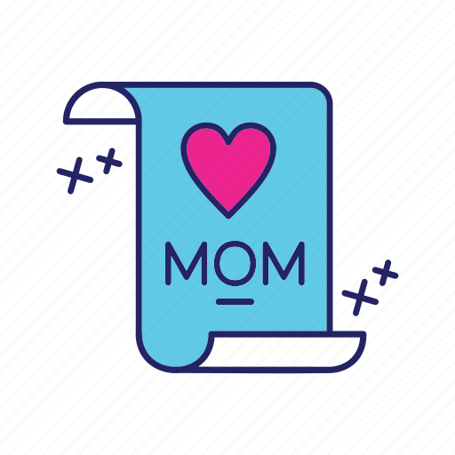 day, happy, mom, mothers icon