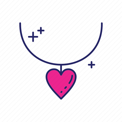 day, happy, mothers, necklace icon