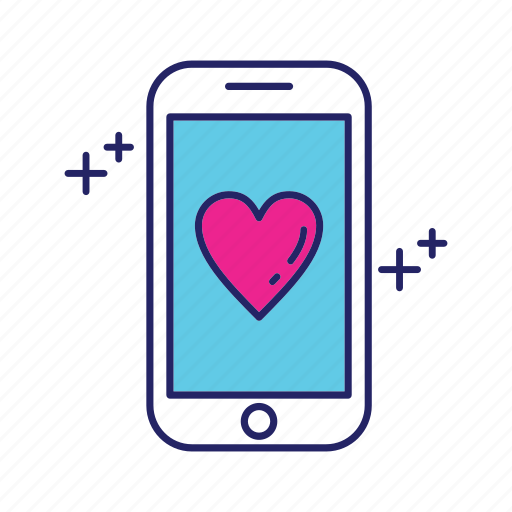 day, happy, mothers, smartphone icon