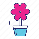 day, flower, happy, mothers, vas icon