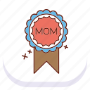 badge, day, happy, mothers icon